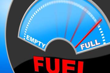 Fuel Full Shows Energy Gauge And Power