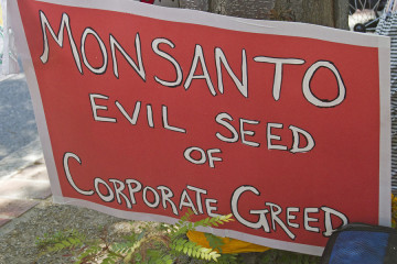 Monsanto, Evil Seed Of Corporate Greed Sign