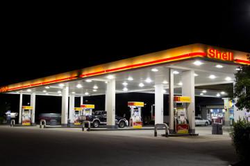 JACKSONVILLE, FL-APRIL 7: Shell gas station on April 7, 2012 in