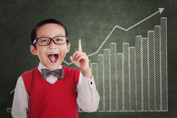 Smart Student With Business Chart