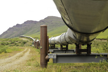 under the pipeline