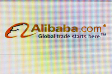 Close-up Open Company Logo Alibaba On A Home Computer Screen