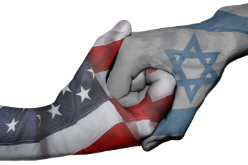 Handshake Between United States And Israel