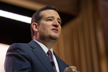 NATIONAL HARBOR, MD - MARCH 6, 2014: Senator Ted Cruz (R-TX) spe