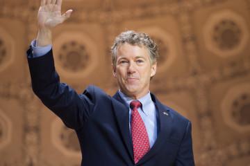 NATIONAL HARBOR, MD - MARCH 7, 2014: Senator Rand Paul (R-KY) sp