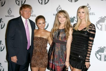Donald Trump and Hayden Panettiere with Tiffany Trump and Ivanka