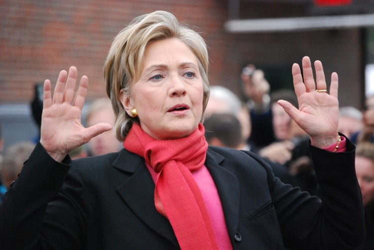MANCHESTER, NH  JAN 8: Senator Hillary Clinton campaigning to be