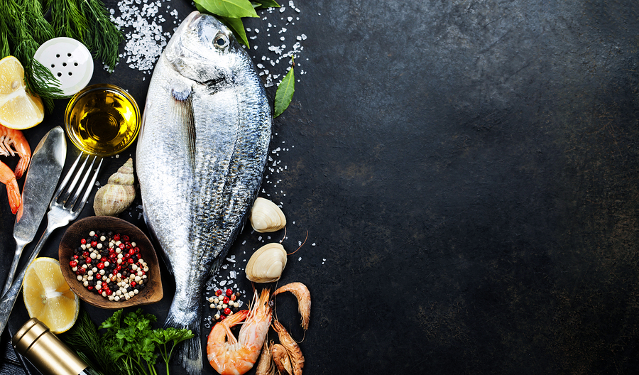 bigstock-Delicious-fresh-fish-on-dark-v-79477294