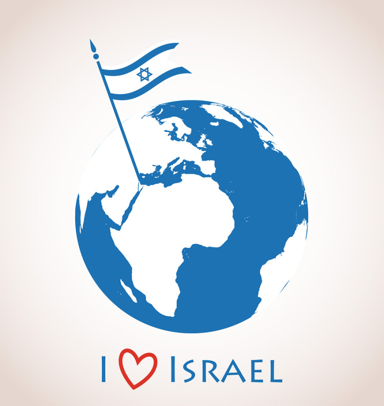 bigstock-Globe-icon-with-Israel-flag-63947449