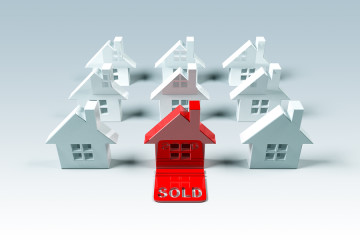 Real estate symbol, 3D generated house, good for your home ads