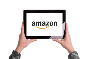 Amazon Logo On Digital Tablet