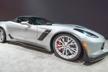 CHICAGO IL/USA - FEBRUARY 13 2015: 2015 Chevrolet Corvette Z06 car at the Chicago Auto Show (CAS) the largest auto show in North America.
