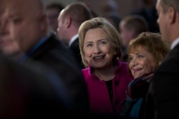 Hillary Clinton Holds Final Town Halls Of The Year In New Hampshire