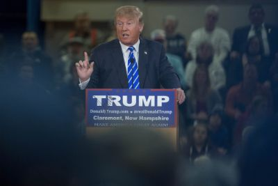 Donald Trump Holds New Hampshire Campaign Rally