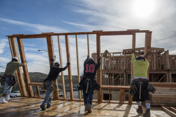 Building At A Toll Brothers Development As Housing Starts Rise Overall in 2015