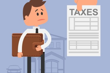 Cartoon vector illustration for financial management and taxes c