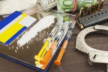Sales of drugs. International crime, drug trafficking. Drugs and