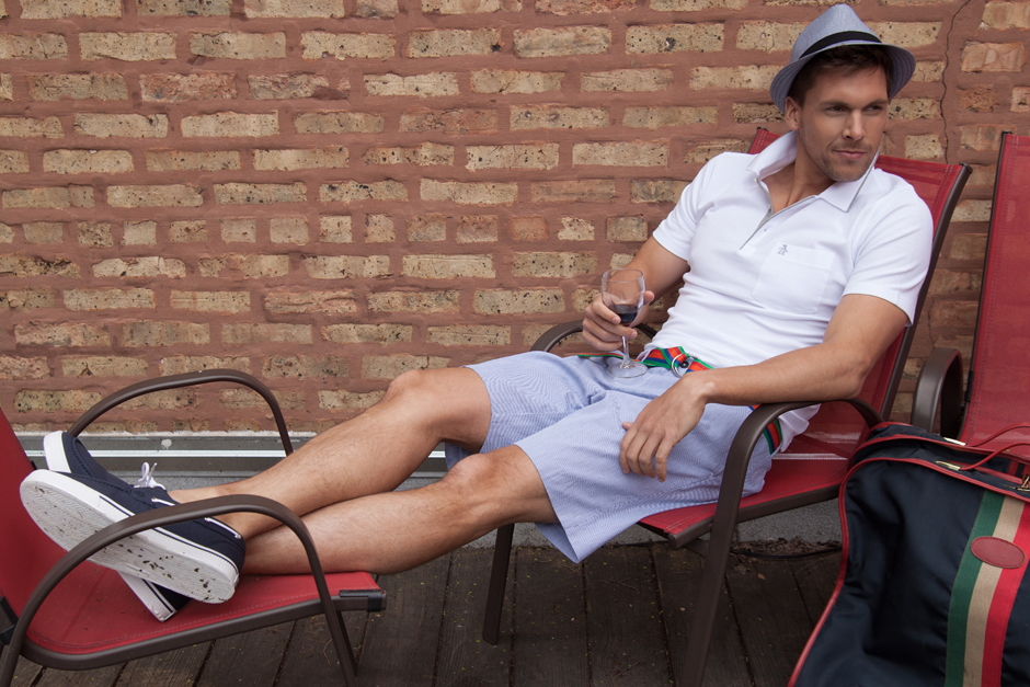 Men of Value Spring 2016 Fashion - Shorts, Polo, and Hat