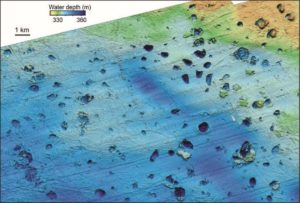 picture of pockmarks in the Beaufort Sea